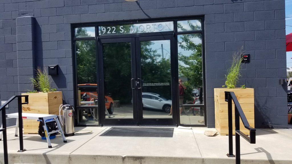 Bloomington Window Tint - Commercial Film applied to exterior windows of Cardinal Spirits in Bloomington, Indiana