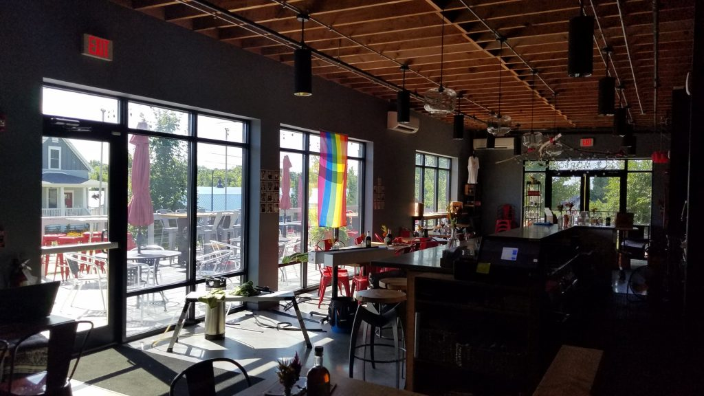 Bloomington Window Tint - Commercial Film applied to Interior of Cardinal Spirits in Bloomington, Indiana