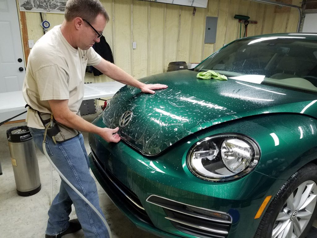 Paint Protection Film on VW Beetle - Installed by Bloomington Window Tint
